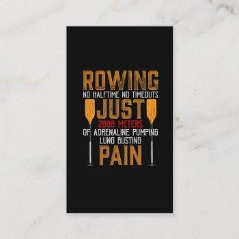 funny rowing adrenaline pumping lung busting rower business card