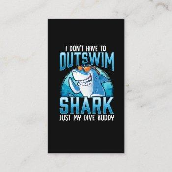 funny scuba diving shark dive buddy business card