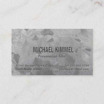 galvanized metal look business card