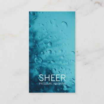 gc sheer water blue business card