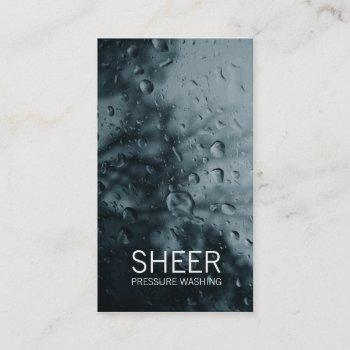 gc | sheer water gray business card