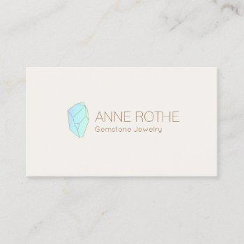 gemstone crystal healer and jewelry designer business card