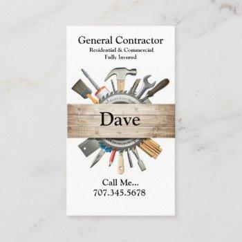 general contractor business cards