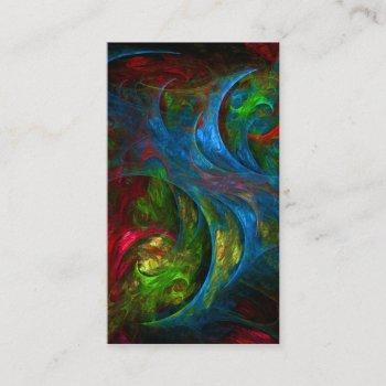 genesis blue abstract art business card