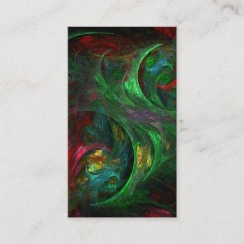 genesis green abstract art business card