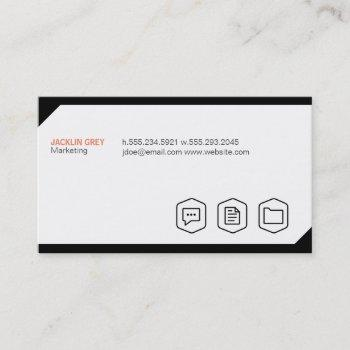 geometric background with icons business card