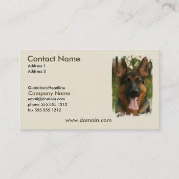 german shepherd dog business card