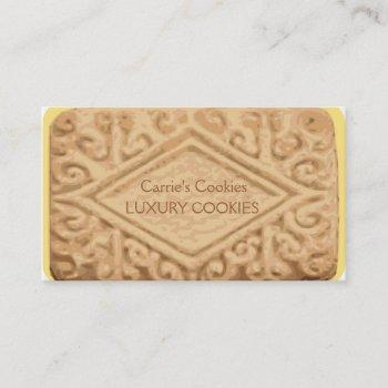 giant vanilla sandwich cream cookie business card