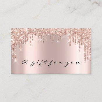 gift certificate nails makeup eyelash rose drips