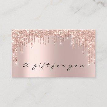 gift certificate nails makeup eyelash rose gold