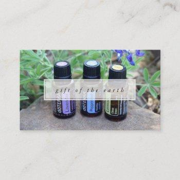 gift of the earth essential oils business card