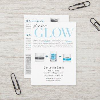 give it a glow instruction cards