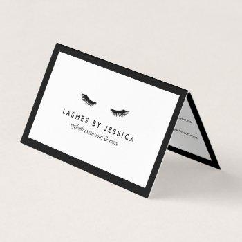glam eyelashes classic lash salon aftercare business card
