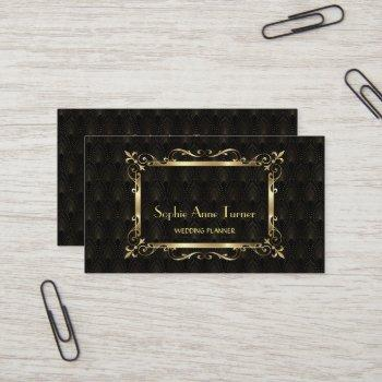 glam gold art deco great gatsby professional business card