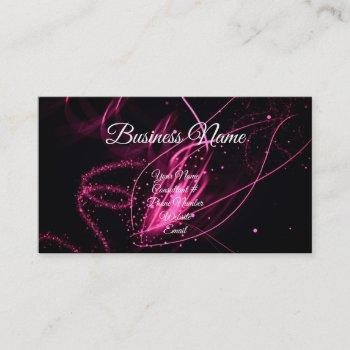 glam pink & black calligraphy consultant modern business card