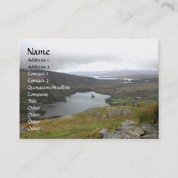 glanmore lake from healy pass ireland. business card