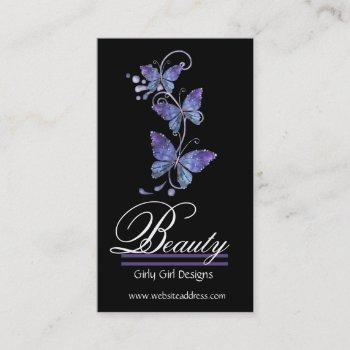 glass butterflies design business cards