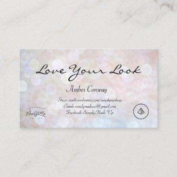 glitter maskcara countour business card