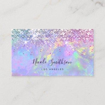 glitter opal business card