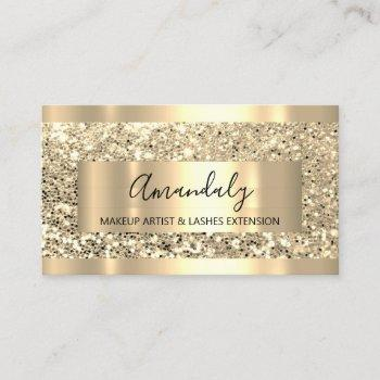 glitter vip gold frame event planner luminous business card