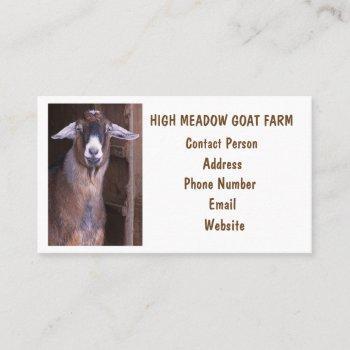 goat farm custom business card