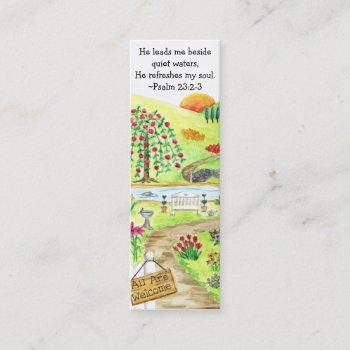 god's garden bookmarks mini business card
