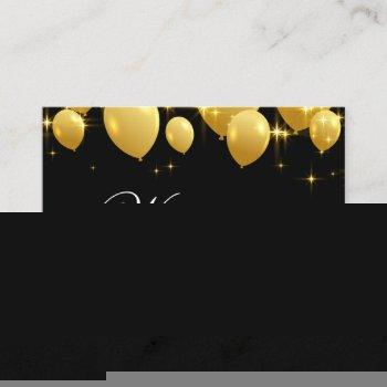 gold balloons event planner business card
