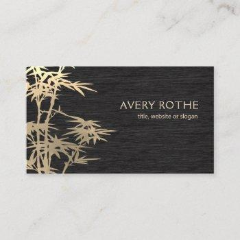 gold bamboo wood chinese medicine business card