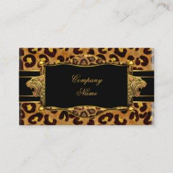 gold black leopard gold elegant boutique 7 business card