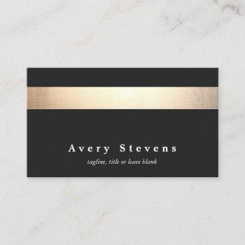 gold black striped modern stylish beauty salon business card