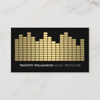 gold equalizer musician, dj, band business card