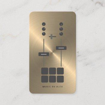 gold faux dj business card 2019