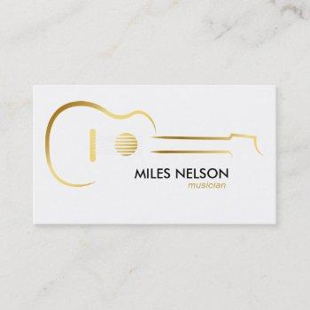 gold guitar modern logo illustration music business card