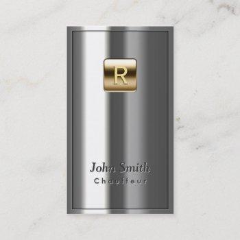 gold logo metallic chauffeur business card