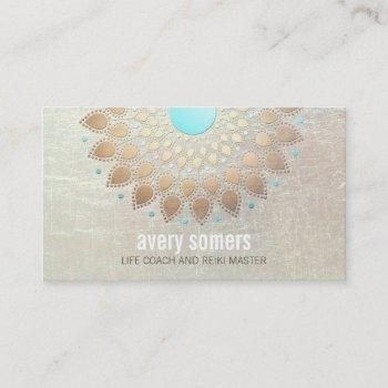 gold lotus yoga and meditation teacher health spa business card