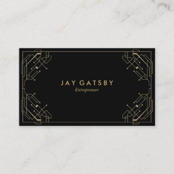 gold on black art deco/art nouveau business card