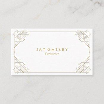 gold on white vintage business card