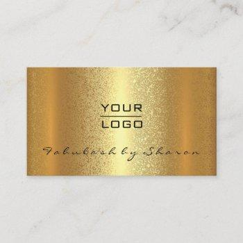 gold spark makeup artist lash elegant lux logo business card