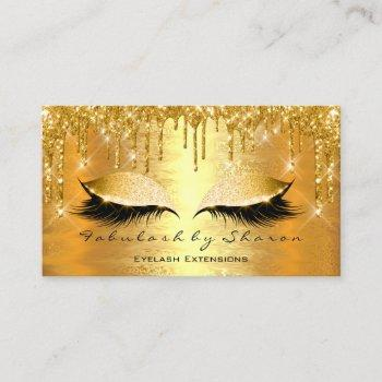 gold spark makeup artist lashes beauty blog business card