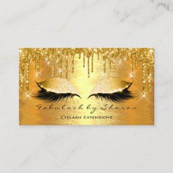 gold spark makeup artist lashes beauty vip business card