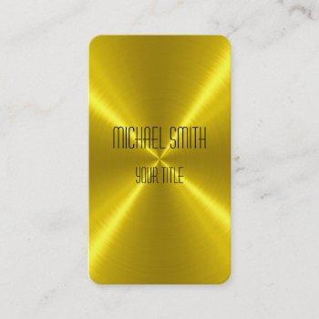 gold steel metal business card