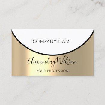 gold steel metal professional minimalism elegant business card