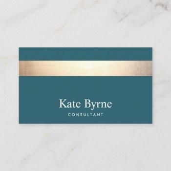gold striped modern stylish burgundy teal business card