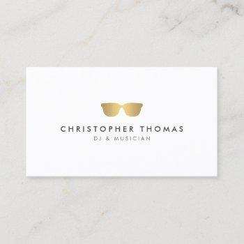 gold sunglasses ii dj business card