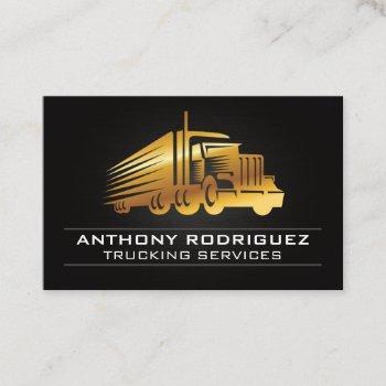 gold truck logo business card