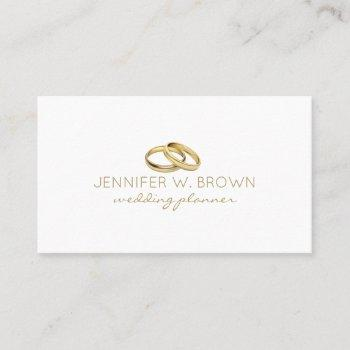 gold wedding ring jewelry business card