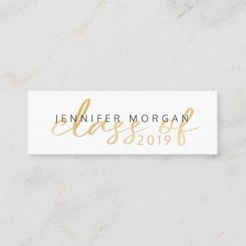 gold whimsical script | graduation name card