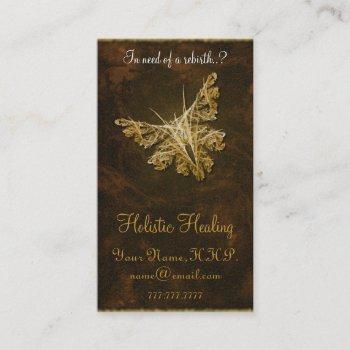 golden butterfly (model 2) - holistic healing business card