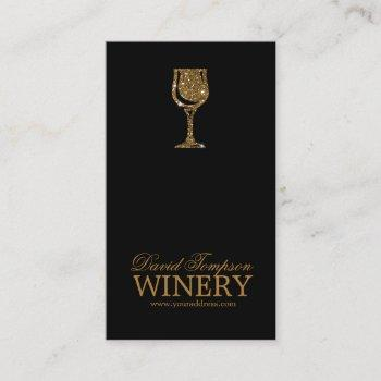 golden glass wine maker sommelier black card