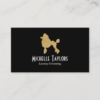 golden poodle   luxury grooming business card